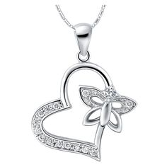 Find More Pendant Necklaces Information about Love Crystal Collane E Ciondoli Butterfly Women 925 Silver Jewelry Flower Heart Necklaces Pendants Collares Necklace Ulove N780,High Quality necklace headset,China necklace heart Suppliers, Cheap necklace with halter dress from ULOVE Fashion Jewelry on Aliexpress.com