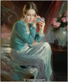 Gallery of artist Vladimir Volegov, portraits of very beautiful women. Painting People, Woman Painting, Figure Painting, Painting & Drawing, Vladimir Volegov, Double Exposition, Ecole Art, Illustration Art, Illustrations