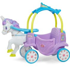 Little Tikes riding toys are safe, durable, and great for all times of year. Make a classic Little Tikes Cozy Coupe part of your outdoor toy line up. Little Tikes, Horse Carriage Rides, Carriage Cake, Carriage House, Princess Carriage, Ride On Toys, Magical Unicorn, Kids Store, Toys For Girls