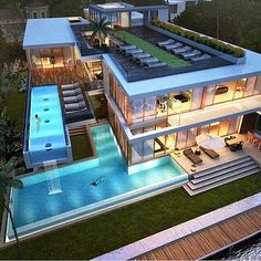 Luxury Homes Exterior, Luxury Homes Dream Houses, Modern Exterior, Old Mansions, Mansions Homes, Dream Home Design, House Design, Florida Mansion, Miami Florida