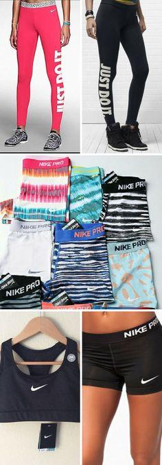 ♡ Nike Pro Workout Clothes   Yoga Tops   Sports Bra   Yoga Pants   Motivation is…