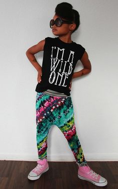The Mini Classy Team this company's fierce and fabulous tees with their sassy harem pants and you've got yourself a certified cool kid.
