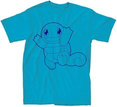 Novelty T-Shirts Squirtle Short-Sleeve Tee