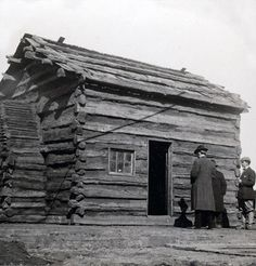 ABRAHAM LINCOLN WAS BORN FEBRUARY 12, 1809. HE WAS BORN IN HODGENSVILLE, KENTUCKY IN THIS LOG CABIN. HE WAS THE SECOND CHILD. HIS FATHERS NAME WAS THOMAS. (Wikipedia) Ashton Tongco-3/19/14