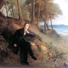 John Keats listening to the Nightingale on Hampstead Heath door Joseph Severn, ca. John Keats Poems, Joshua Smith, Don Winslow, William Wordsworth, Hampstead Heath, William Blake, Bright Stars, Love Book, Artist