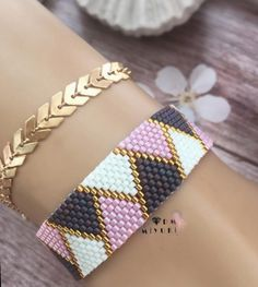 off loom beading Loom Bracelet Patterns, Bead Loom Patterns, Peyote Patterns, Jewelry Patterns, Beading Patterns, Peyote Beading, Bead Jewellery, Loom Bracelets, Diy Accessories
