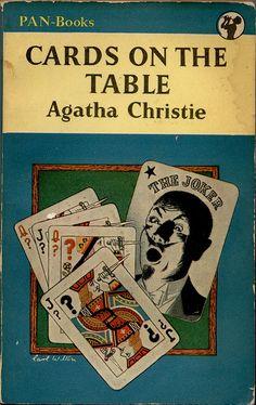 Cards on the Table, Agatha Christie, British Golden Age Crime novel, Pan Crime Books, Crime Fiction, Pulp Fiction, Fiction Novels, Agatha Christie's Poirot, Hercule Poirot, Cards On The Table, Cozy Mysteries, Murder Mysteries