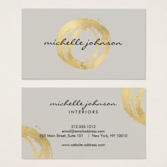 Shop Luxe Faux Gold Painted Circle Designer Logo on Tan Business Card created by Personalize it with photos & text or purchase as is! Business Names, Business Logo, Business Card Design, Somerset, Maquette Site Web, Logo Rond, Grand Design Rv, Chic Type, Type Treatments