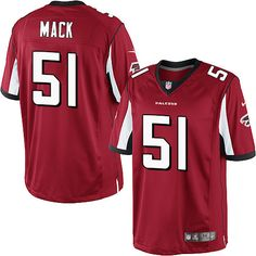 nfl shop Nike Limited Red Men s Jersey - Customized Atlanta Falcons NFL Home f43bcc6a8