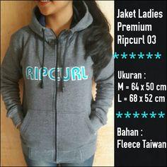 Jaket Ladies Premium Ripcurl 03 abu || Menyerupai Original, lambang Bordir, Bahan halus dan berbulu seperti ori, Resleting sesuai merk, dan nyaman dipakai || Ukuran M dan L || Minat?? Telp/WA: 085842323238 || BBM: 5B0B3B3D