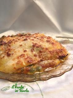 Lasagne fave, piselli e formaggi | Il Verde In Tavola