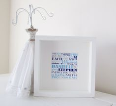 Wedding Gift Personalized Framed Print Personalised Word Art Picture Unique present Personalised Present Framed Bespoke Wedding Gift by NJRDesigns on Etsy