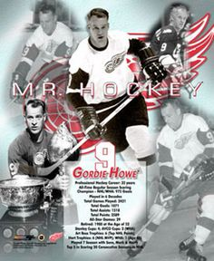 Gordie Howe MR. HOCKEY Poster - Detroit Red Wings. Canada hockey legend, #hockey player.