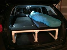 Incredibly Cool Gifts That'll Make You Want to go Camping DIY PVC bed platform for car camping SOURCE: m.imgur.com/a/j7gRo