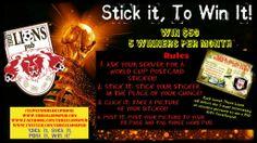 Win $50 each month: Learn more: http://threelionspub.com/win-50-stick-it-click-it-post-it-win-it/