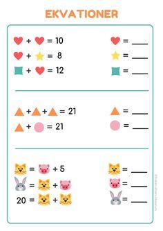FrökenSilversKlassrum – Produkter – Skolmagi.nu Number Puzzles, Maths Puzzles, Kids Math Worksheets, Math Activities, Dyscalculia, Bra Hacks, Math For Kids, Working With Children, Word Problems