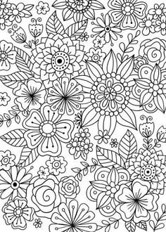 Gift this card uncolored so your recipient can enjoy the stress relieving benefits of coloring, or color it in for them to show you are thinking of them. Frame your work of art in a for everyone Coloring Pages For Grown Ups, Adult Coloring Book Pages, Free Coloring Pages, Coloring Sheets, Coloring Books, Printable Flower Coloring Pages, Pattern Coloring Pages, Mandala Coloring Pages, Color Card