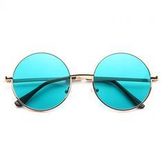 Cheap Round Sunglasses | Mary Kate Color Tint Round Sunglasses | BleuDame.com