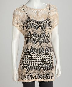 e0066dc7d9271 Loving this Sand Crochet Tunic would look sexy over a bra and panties! What  to