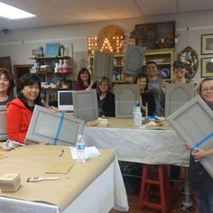 Another cabinet painting class, comes to an end!