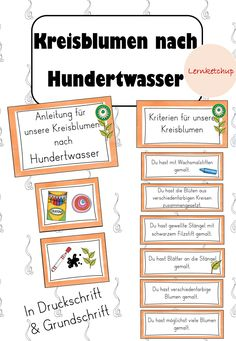 Kreisblumen Lolli Blumen Nach Hundertwasser Unterrichtsmaterial Im Fach Kunst Kunst Fur Grundschuler Kunstunterricht Hundertwasser