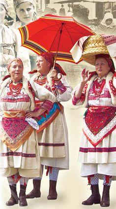 ethnic, Croatia - that is how women from Šestine (Shestine (The Sixths!) near Zagreb look like when they were bringing farm products to Zagreb makret