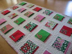 I bought all the fabric to make this quilted Advent calendar.  Now, I just need to get on it.  Ha!