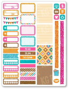 ~~pinned from site directly~~ . . .Native Functional Kit Planner Stickers for Erin by PlannerPenny
