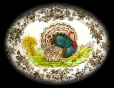ROYAL STAFFORDSHIRE CLARICE CLIFF TURKEY PLATTER...just like the one Tim bought for me years ago. :)