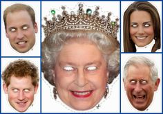 English Royal Family Free Printable Masks.