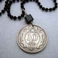Coin Jewelry  Art Nouveau Austrian coin  10 by FindsAndFarthings