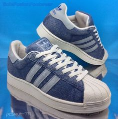 adidas Originals Mens Superstar Blue Trainers sz 7 VTG Cracked Sneaker US 8 40.6 in Clothes, Shoes & Accessories, Men's Shoes, Trainers | eBay
