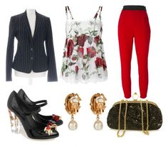 """""""Dolce & Gabanna Set"""" by gaffos ❤ liked on Polyvore featuring Dolce&Gabbana"""