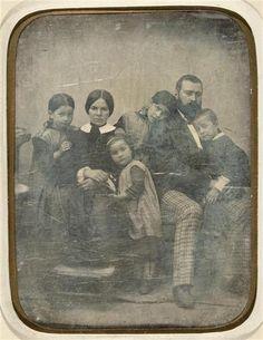Le peintre Jean-François Millet et sa famille