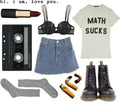 """""""math sucks"""" by ameliaelves ❤ liked on Polyvore"""