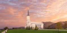 Star Valley Temple Sunrise Glow - A stunning sunrise at the Star Valley Wyoming…