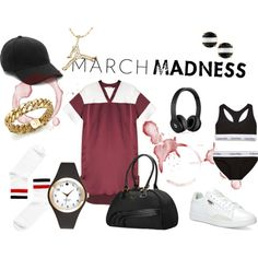 sporty march by supabebek on Polyvore featuring moda, T By Alexander Wang, Monki, Calvin Klein Underwear, Puma, Kate Spade, Roberto Coin, Keds and Beats by Dr. Dre