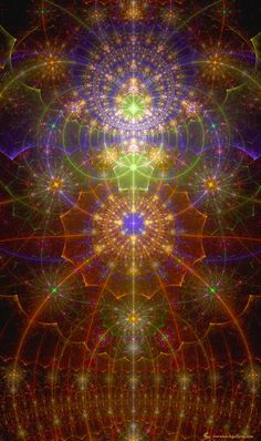 Beautiful Chakra Fractal - I so wish I knew how to create fractal art!  So beautiful!