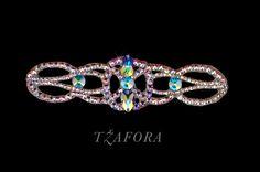 """Primrose"" - Swarovski ballroom bracelet, each one handmade in Canada. Ballroom jewelry, ballroom dancesport accessories. www.tzafora.com Copyright © 2015 Tzafora"