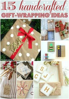 Love all of this gift-wrapping inspiration! Lots of GREAT tutorials and free printables!! #handcrafted #diy #christmas #gifts