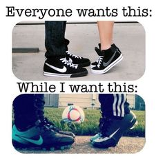 Not just with anyone either. I want it with my soccer crush.