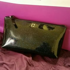 """Kate Spade cosmetic bag Sparkly blue cosmetic bag, 7.5""""L  4.5"""" H kate spade Bags Cosmetic Bags & Cases"""