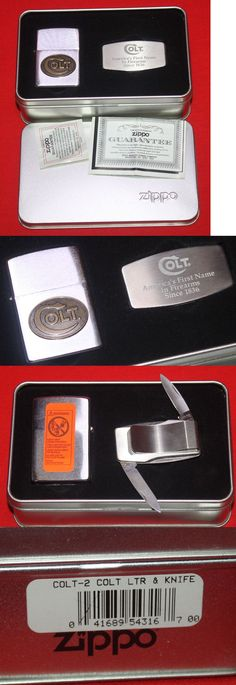 Advertisements 71132: Colt Firearms Factory Colt Zippo Lighter / Knife Money Clip Set In Case . BUY IT NOW ONLY: $89.99