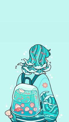 Anime Scenery Wallpaper, Cute Pastel Wallpaper, Kawaii Wallpaper, Wallpaper Iphone Cute, Cute Patterns Wallpaper, Arte Do Kawaii, Kawaii Art, Kawaii Anime, Cute Art Styles