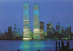 1973WORLD TRADE CENTRE ~ Twin Towers, New York City ~ Vintage Photo Postcard by Christian Montone©