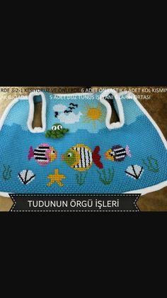 Tunisia Fish Baby Vest Making - Nice ideas Knitting Videos, Knitting Charts, Baby Knitting Patterns, Baby Vest, Baby Cardigan, Knitting For Kids, Easy Knitting, Toddler Skirt, Crochet Bebe