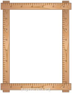 Printable ruler border. Use the border in Microsoft Word or other programs for…