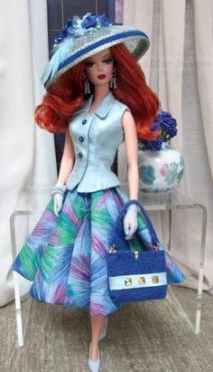 Barbie-Silkstone-Fashion-Royalty-FR2-Victoire-Roux-OOAK-clothes-BCCan-Designs
