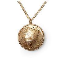 Hive & Honey Swirl Dome Pendant Necklace