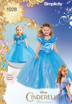 """S1028 Disney Cinderella Costume for Child and 18"""" Doll"""